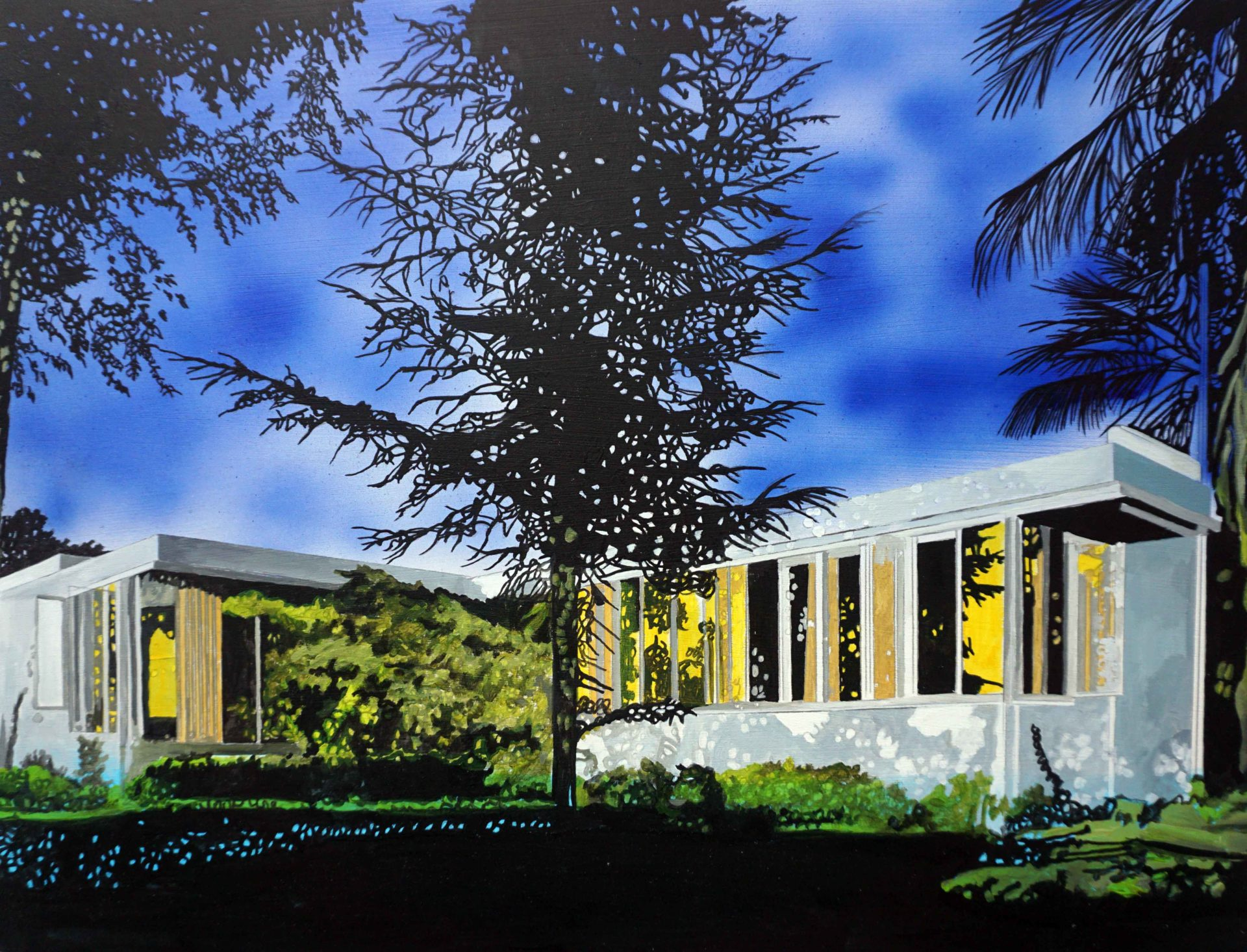 Neutra Richter House 2016 Oil on panel 11.75 x 15.75 in.