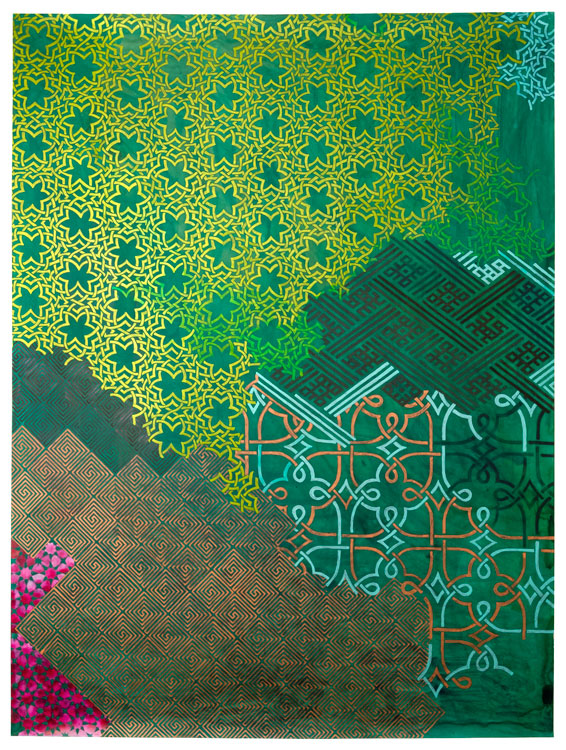 "Carole Silverstein, ""entangled spirits,"" 2017, Acrylic Ink on Mylar, 48 x 36 Inches"