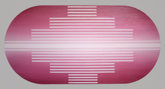 Brian Caraway, New State of Mind, 2016, acrylic on panel, 36 x 74 inches, image courtesy of the artist and Chandra Cerrito Contemporary