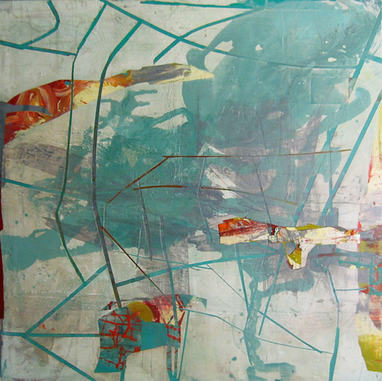 """AAudrey Tulimiero Welch, """"Perth Day 267,"""" 2012, Acrylic on Canvas, 49 x 49 Inches"""